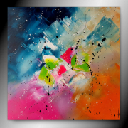 tableau abstrait tableau abstrait peinture contemporain : Madame rêve