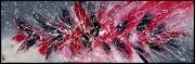 tableau abstrait tableau abstrait rouge horizontal : RUBIS