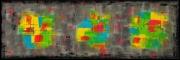 tableau abstrait horizontal peinture abstraite fait main : ETATS D'AME
