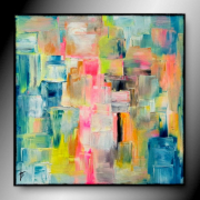 tableau abstrait tableau abstrait colore contemporain : JAZZ