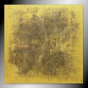 tableau abstrait tableau or peinture fait main : LINGOT