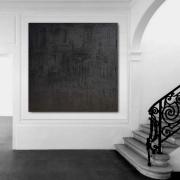 tableau abstrait tableau monochrome peinture noir : monochrome noir/ VENDU