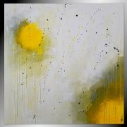 tableau abstrait tableau abstrait fait main toile grand : Hélium/VENDU