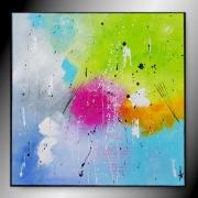 tableau abstrait tableau abstrait peinture toile fait main : BIKINI