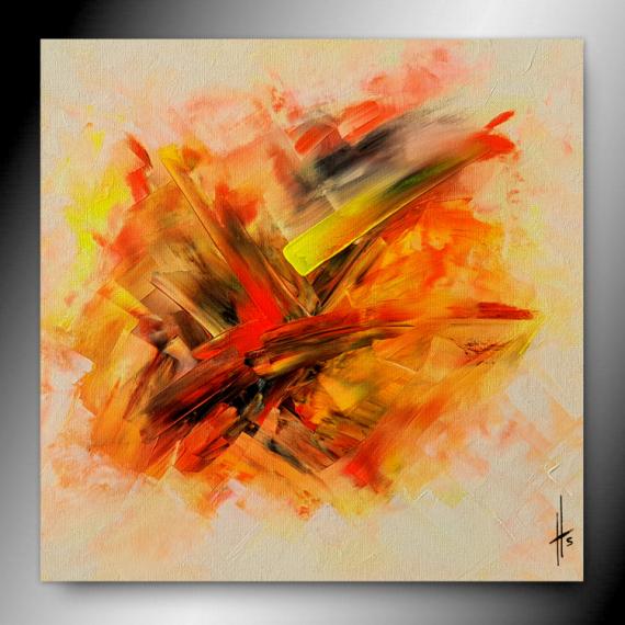TABLEAU PEINTURE tableau abstrait orange peinture Abstrait  - STARLIGHT