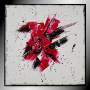 tableau abstrait tableau abstrait contemporain rouge : CERISE
