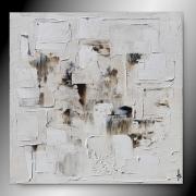 tableau abstrait tableau abstrait fait main marron : TERRE