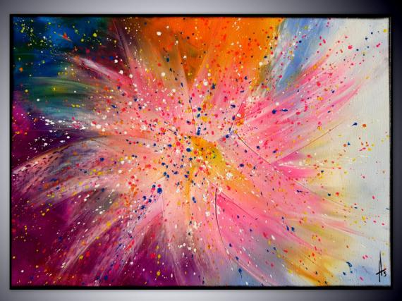 TABLEAU PEINTURE tableau abstrait contemporain fait main Abstrait  - STAR