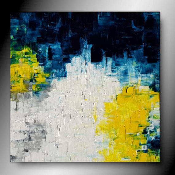 TABLEAU PEINTURE tableau abstrait peinture fait main Abstrait  - KALEI