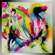 tableau abstrait tableau abstrait colore peinture : Délire printanier