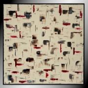 tableau abstrait tableau beige abstrait grand : CHAOS/ vendu