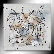 tableau abstrait beige tableau abstrait fait main : SEREIN