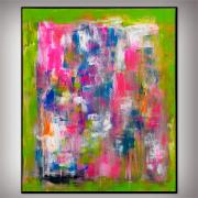 tableau abstrait tableau abstrait fluo fait main : Un jeudi d'été