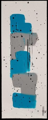 tableau abstrait peinture contemporain vertical/ VENDU
