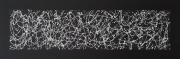 tableau vertical horizontal noir fait main : PRESENT / VENDU