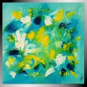 tableau abstrait tableau abstrait peinture bleu : MOUVEMENTS DE VIE