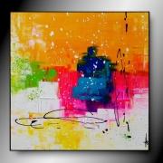 tableau abstrait tableau abstrait fait main moderne : petite récré/VENDU
