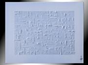 tableau peinture blanc monochrome horizontal : MONOCHROME BLANC