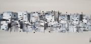 tableau abstrait horizontal tableau abstrait peinture : NOUVELLE PAUSE