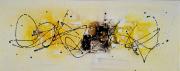 tableau abstrait tableau abstrait jaune peinture : Sérénité/ Vendu
