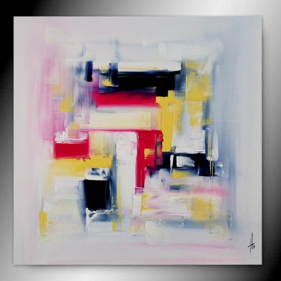 TABLEAU PEINTURE tableau abstrait peinture fait main Abstrait  - ROSA PAYNE/ VENDU