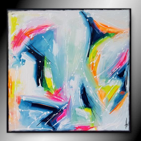 TABLEAU PEINTURE tableau fluo peinture abstrait Abstrait  - WEEK-END/ vendu