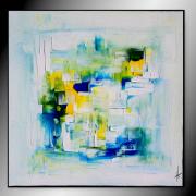 tableau abstrait tableau abstrait bleu peinture : LOU