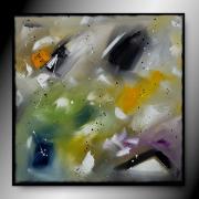 tableau abstrait tableau abstrait peinture fait main : V17