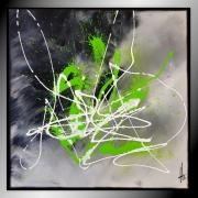 tableau abstrait tableau abstrait peinture vert : ESPOIR