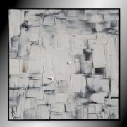 tableau abstrait tableau blanc et noir abstrait peinture : BLACK OR WHITE