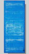tableau abstrait monochrome bleu vertical tableau peinture : OCEAN