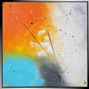 tableau abstrait carre peinture abstraite tableau : PLAISIR/VENDU
