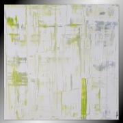 tableau abstrait blanc tableau peinture contemporain : ZEN