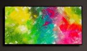 tableau abstrait tableau abstrait peinture fait main : JOIE DE VIVRE