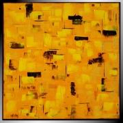tableau abstrait jaune tableau abstrait contemporain : OR / VENDU