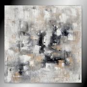 tableau abstrait tableau peinture abstrait fait main : FOLLOW ME