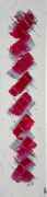 tableau abstrait abstrait vertical fait main tableau : F13