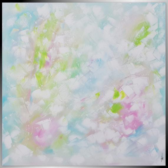 TABLEAU PEINTURE tableau abstrait peinture fait main Abstrait  - Douce Rêverie