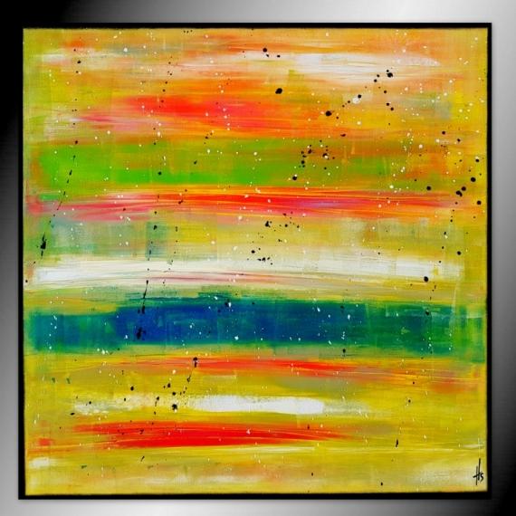 PAINTING peinture tableau abstrait contemporain Abstrait  - Finally