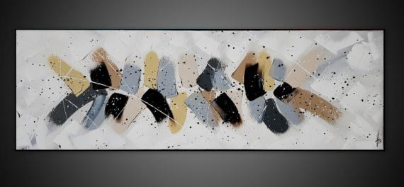 TABLEAU PEINTURE tableau abstrait contemporain horizontal Abstrait  - NUANCES