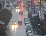 photo villes rain by lichelm pluie par lichelm headlights reflectio wet roads miror : RAIN