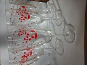 ceramique verre fleurs : Fleurs rouges