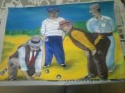 autres personnages bouliste : petanque sur feuille a peindre
