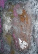 painting abstrait espace metal argent : ESPACE