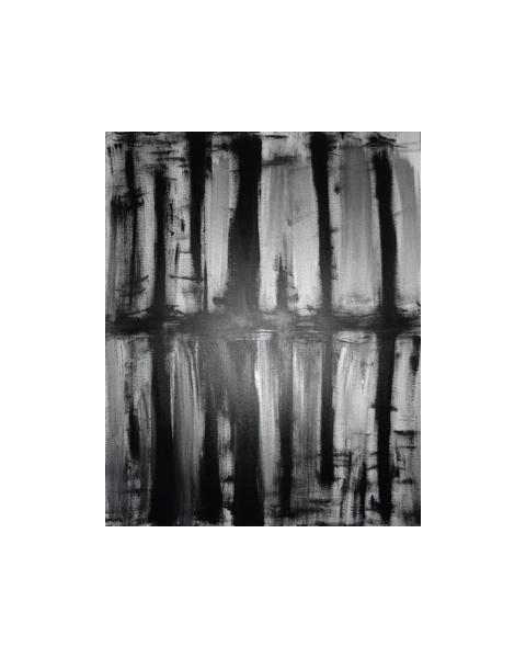 TABLEAU PEINTURE REFLET New York Abstrait Peinture a l'huile  - REFLET