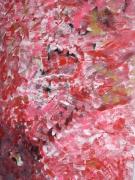 painting abstrait hibiscus fleur bonheur pensee : HIBISCUS