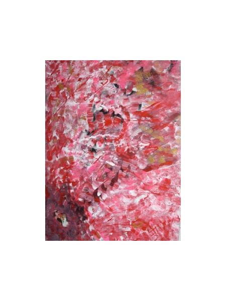 TABLEAU PEINTURE Hibiscus Fleur Bonheur Pensée Abstrait  - HIBISCUS