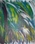 painting abstrait tropical vegetal verdure : Tropique