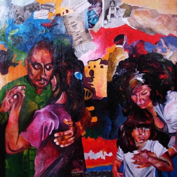 TABLEAU PEINTURE Scène de genre Peinture a l'huile  - Danse III