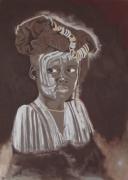 tableau personnages enfant africain portrait : Enfant africain
